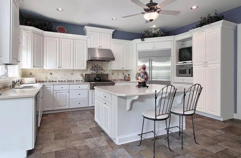 Распределение пространства кухни