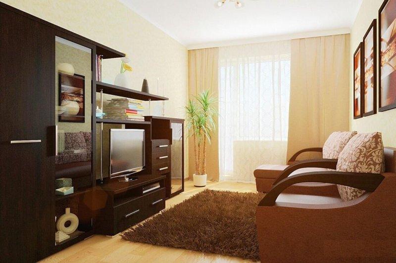 Расстановка мебели в гостинной в хрущевке