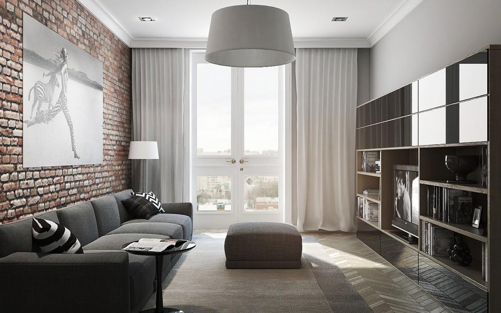 Расстановка мебели в гостиной 18 кв.м