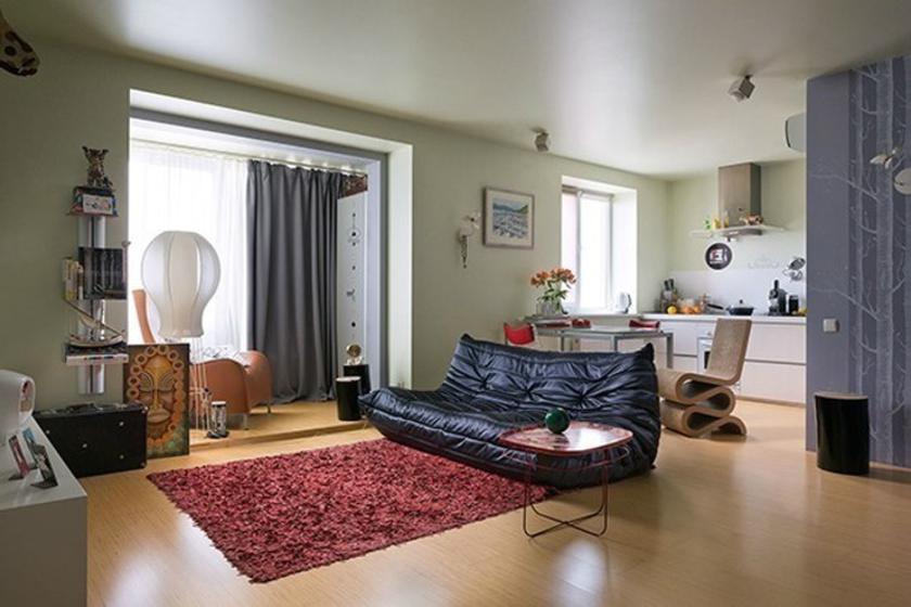 Расширение квартиры-студии 25 кв. м с помощью лоджии