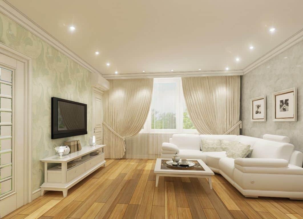 Рекомендации по освещению в гостиной 18 кв.м