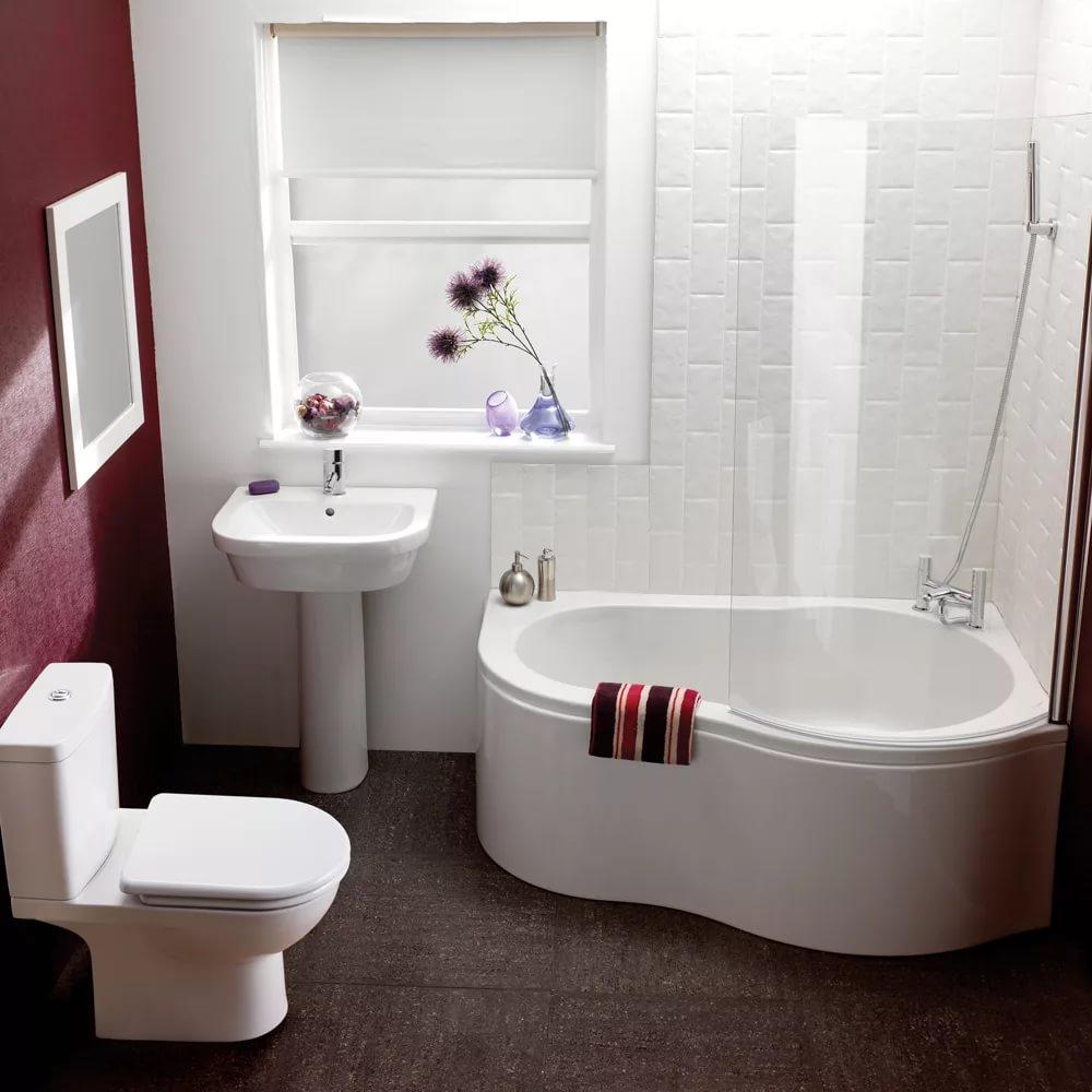 Сидячая ванна для маленького помещения