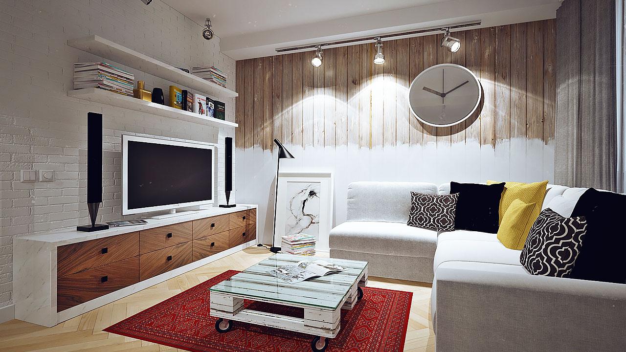 Скандинавский стиль для гостинной 15 кв.м