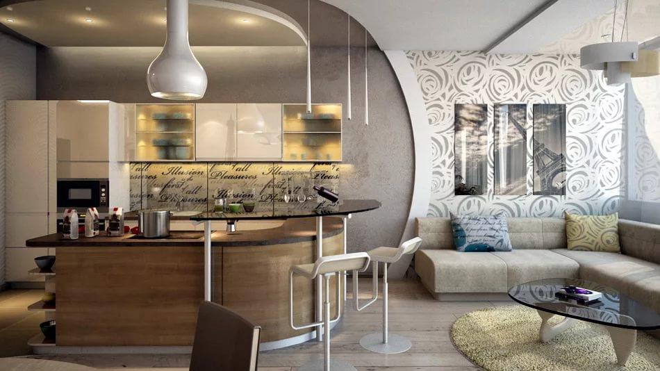 Совмещение стилей в интерьере двухуровневой квартиры