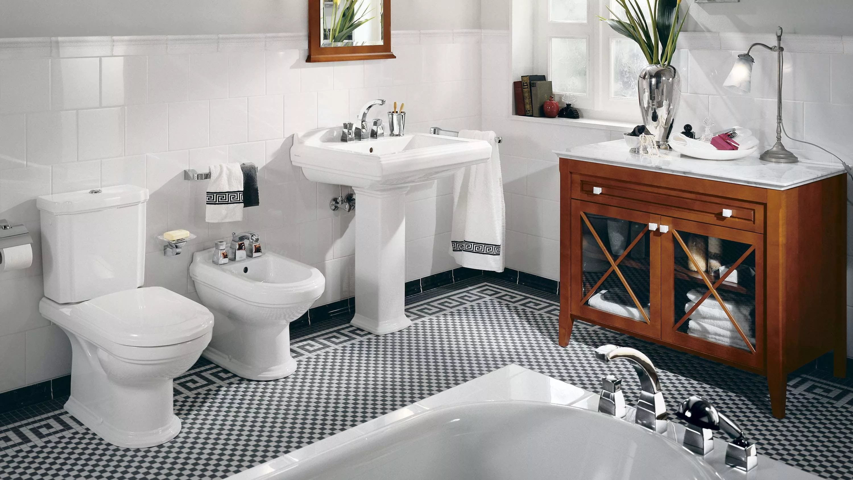 Совмещенный санузел в большой ванной