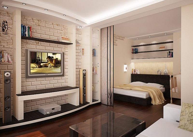 Спальня-гостинная в хрущевке