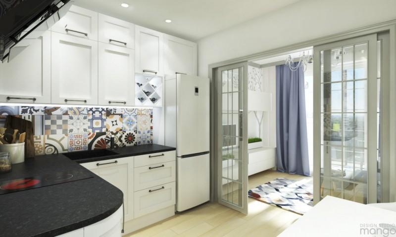 Спальня на лоджии в квартире-студии 25 кв. м