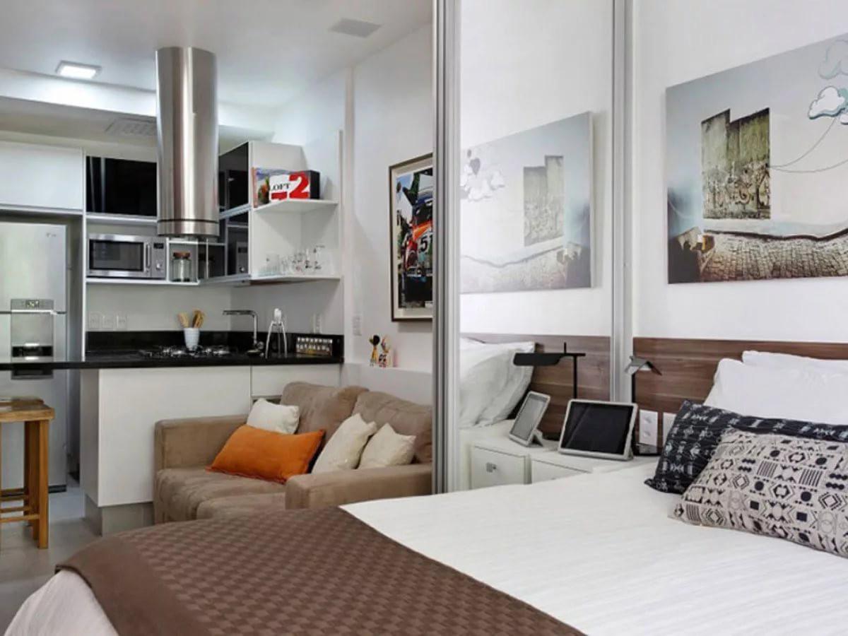 Спральная зона в квартире-студии 25 кв. м