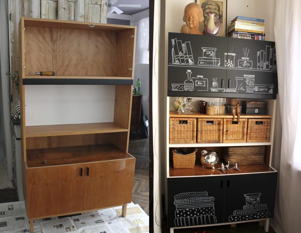 Старый шкаф в интерьере дачного дома
