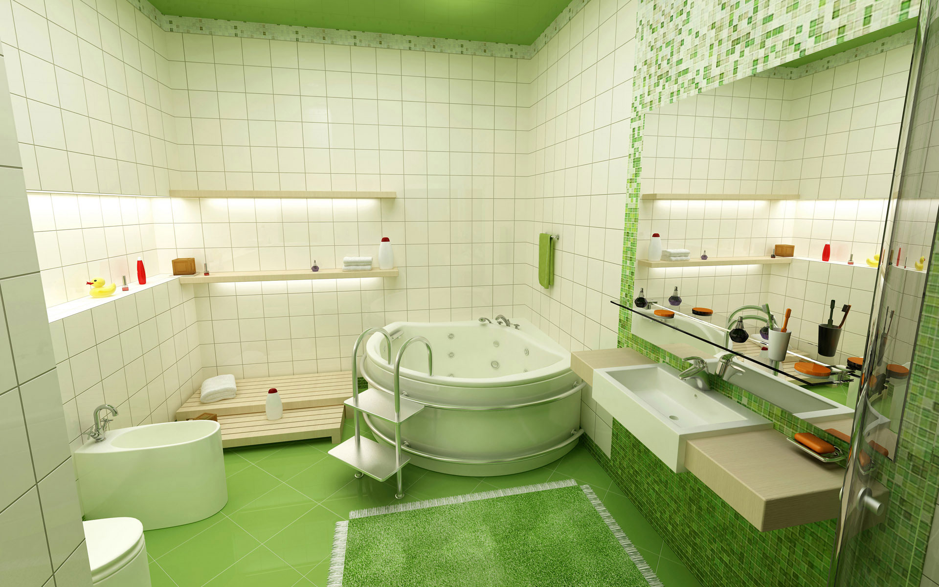 Стилизация ванной комнаты