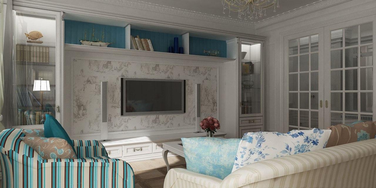 Стиль прованс для гостинной 15 кв.м