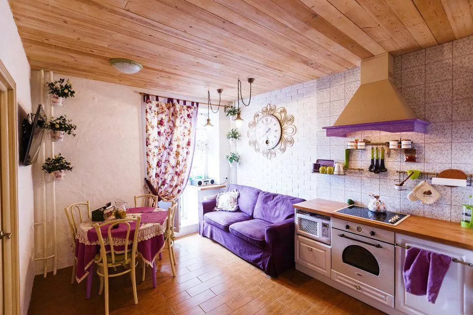Текстиль в интерьере кухни 12 кв.м.
