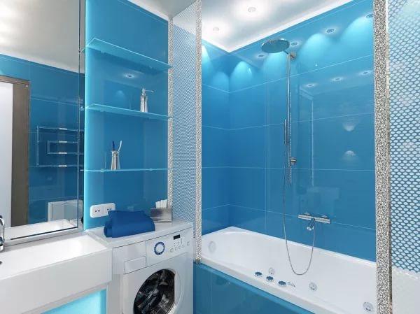 Точечное освещение в ванной 4кв.м