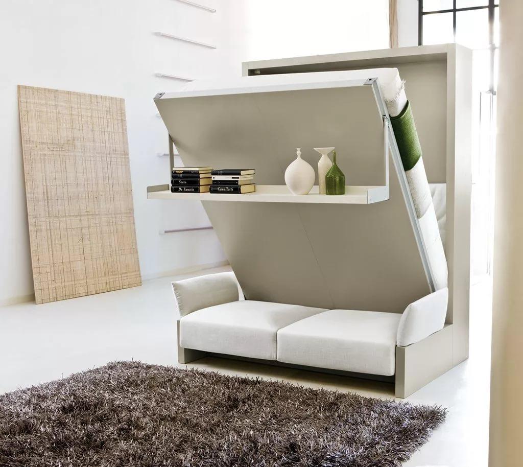 Трансформирующаяся мебель в дизайне двухуровневой квартиры