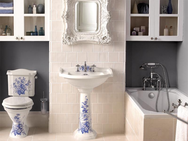 Фарфоровая сантехника в ванной