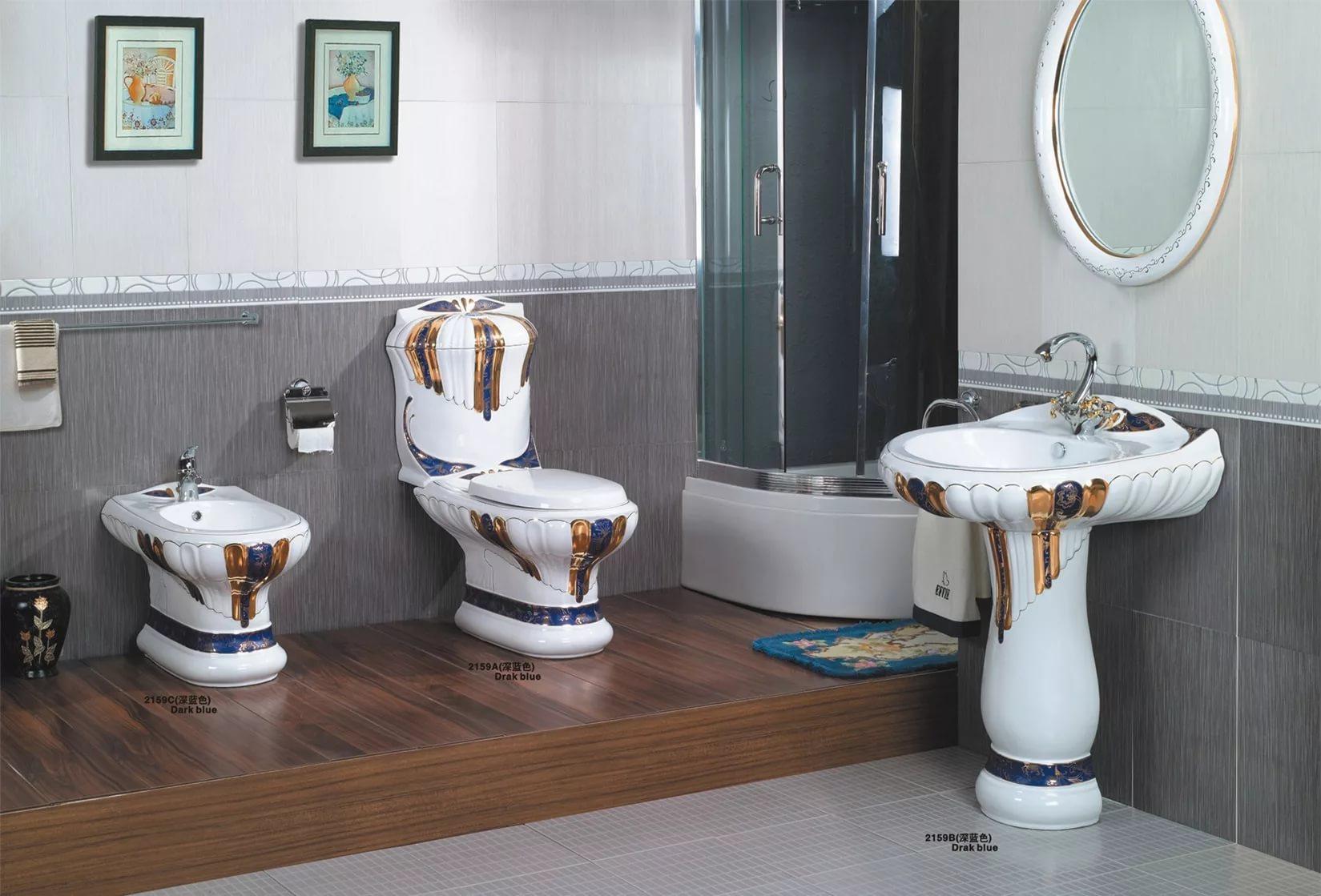 Фаянсовая сантехника в ванной
