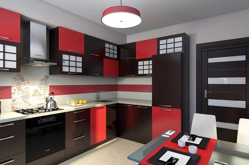 Цветовое оформление кухни в японском стиле