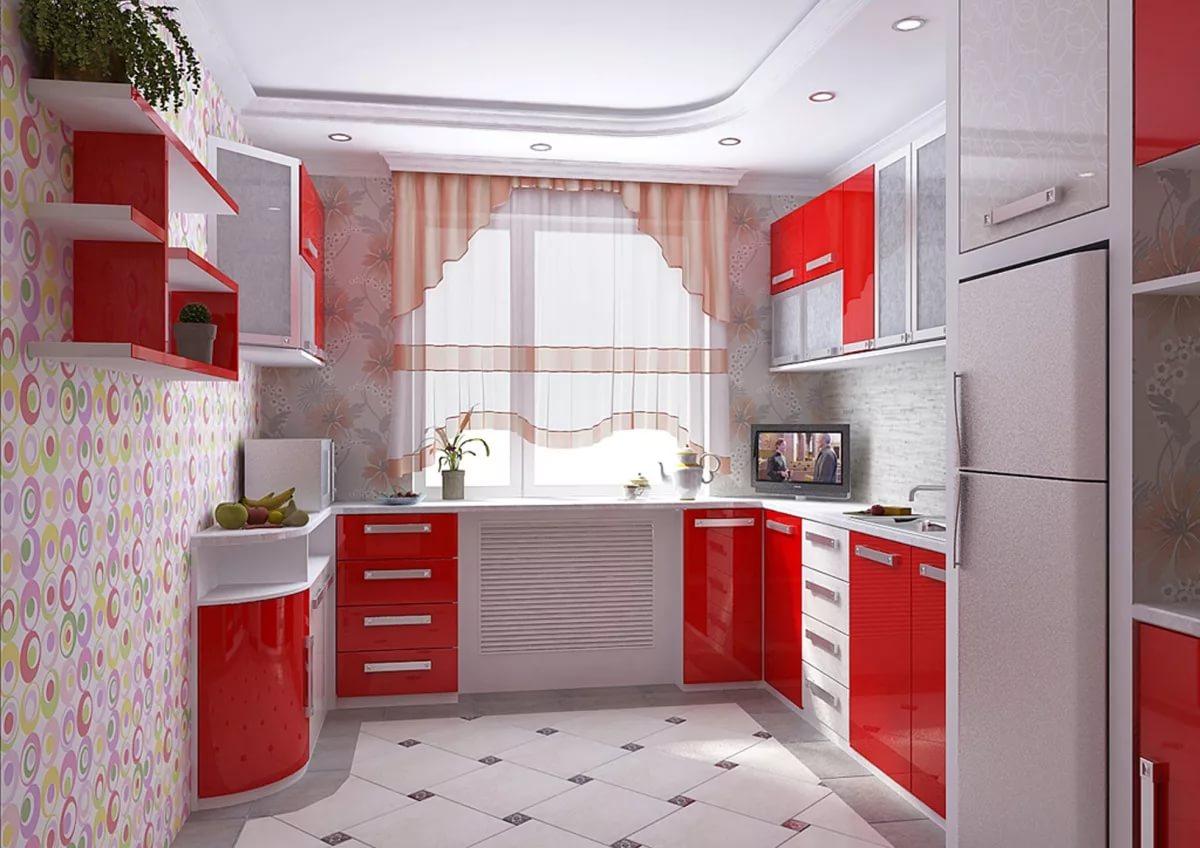 Цветовое решение для холодной кухни в двухкомнатной квартире