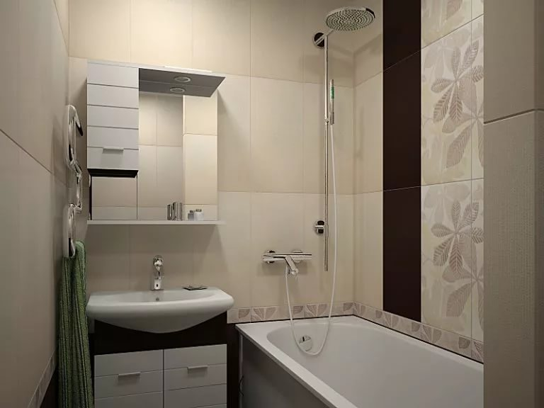 Шакаф и полки для маленькой ванной