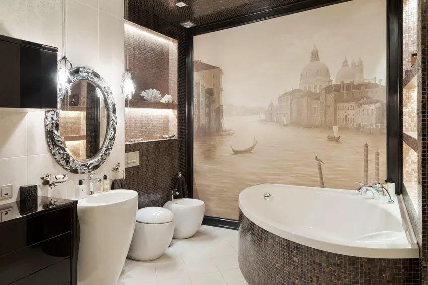 Экран под ванну в ванной комнате 4кв.м