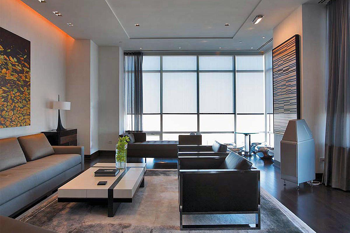 Элементы интерьера гостиной 20 кв.м в стиле хай-тек