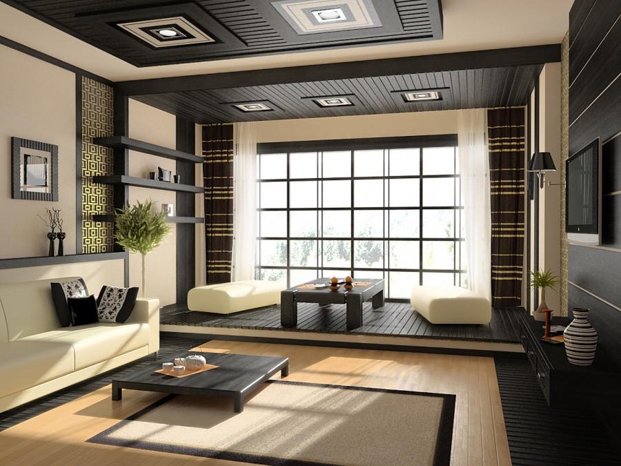 Японский стиль в квартире студии 25 кв. м
