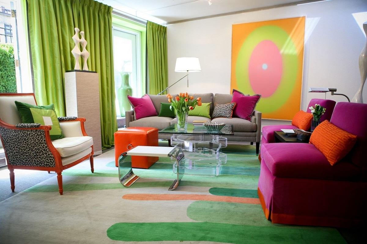 Гостиная в комплементарных цветах