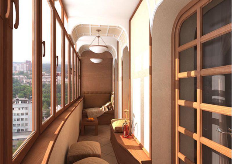 Дизайн интерьера балкона