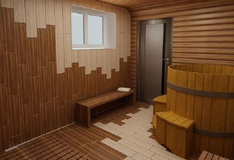 Кафельная плитка в бане
