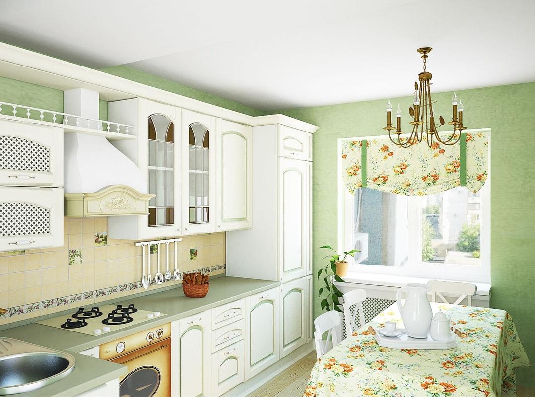 Вариант дизайна кухни в стиле профванс