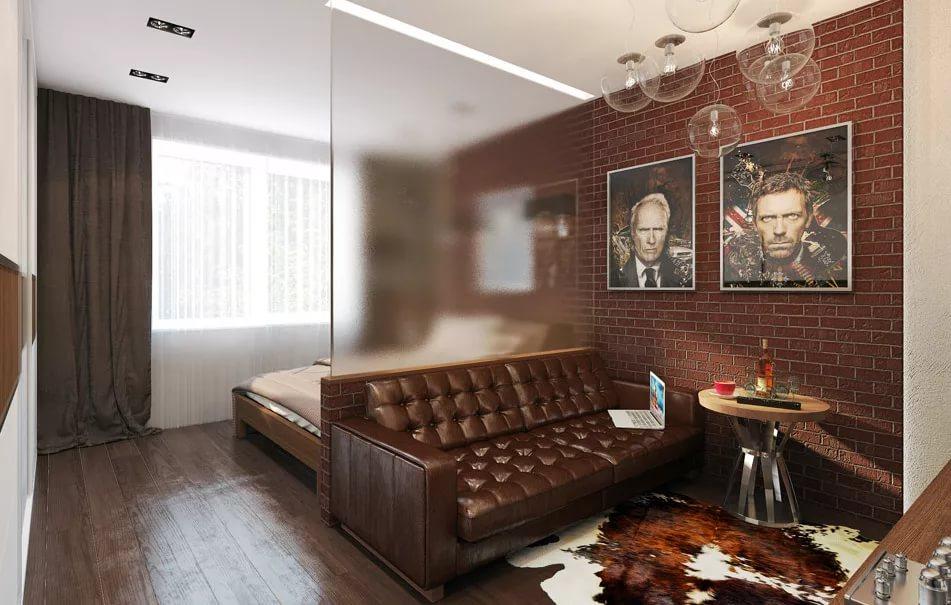 Выделение зон в малогабаритной квартире