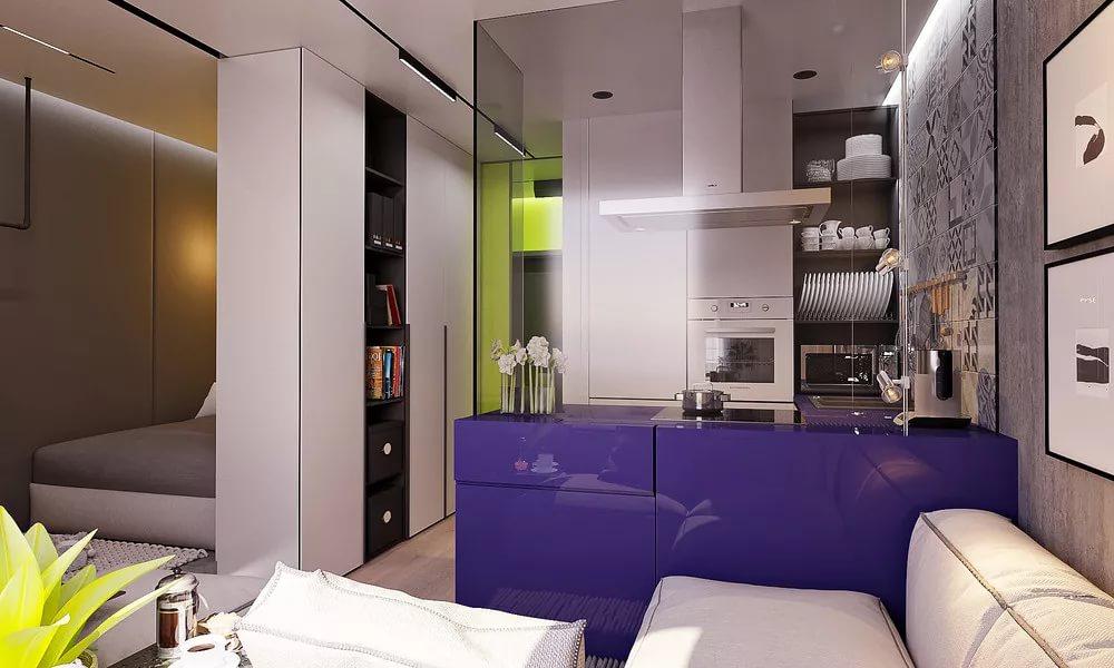 Вытяжка на кухне в квартире-студии