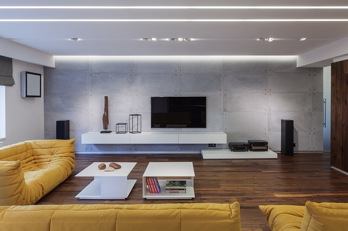 Дизайн большой квартиры-студии