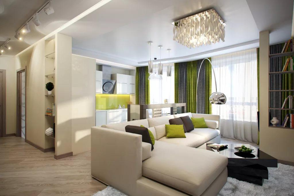 Дизайн интерьера в трехкомнатной квартире