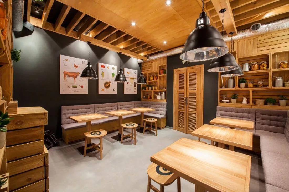 Дизайн кафе в деревенском стиле