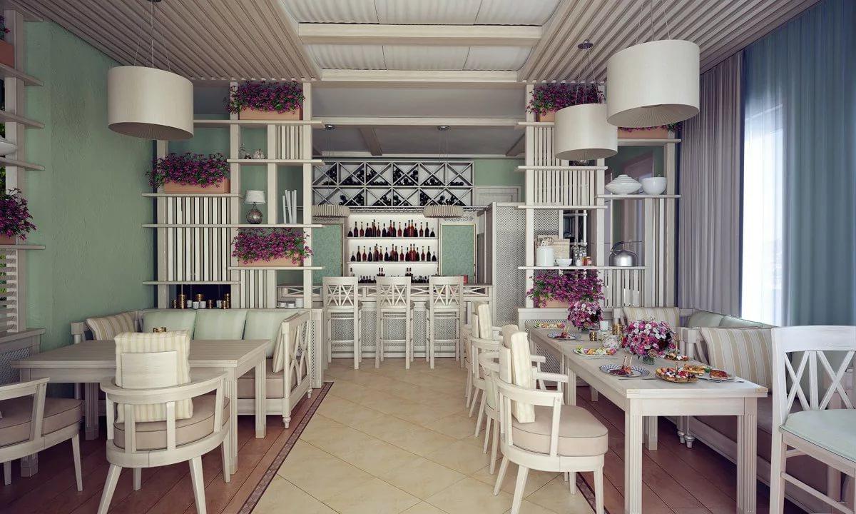 Дизайн кафе в стиле прованс