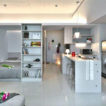 Дизайн квартиры студии 30 кв.м.