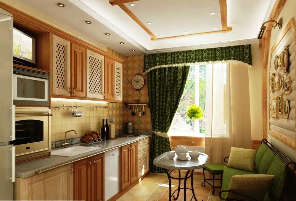 Дизайн интерьера кухни 10 кв. м: варианты перепланировки, ст.
