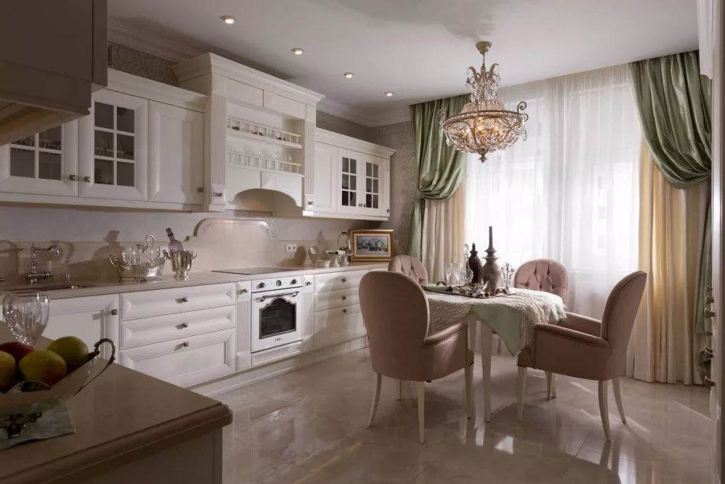 Дизайн кухни 10 кв.м. в классическом стиле