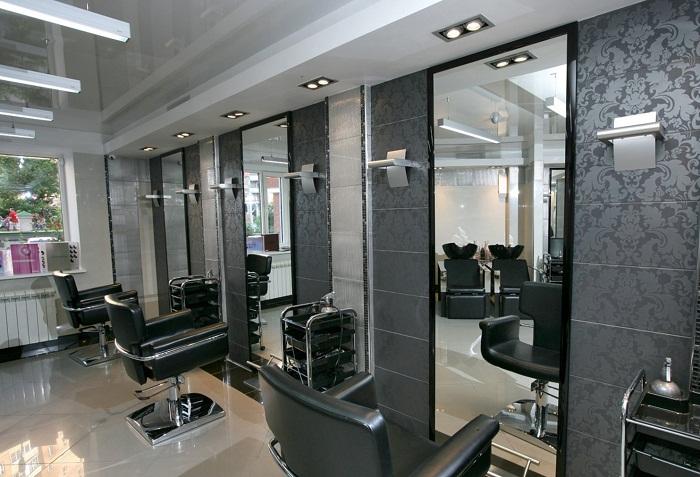 Дизайн салона красоты в серых тонах