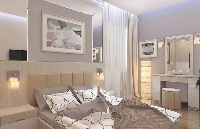 Дизайн спальной комнаты в трехкомнатной квартире