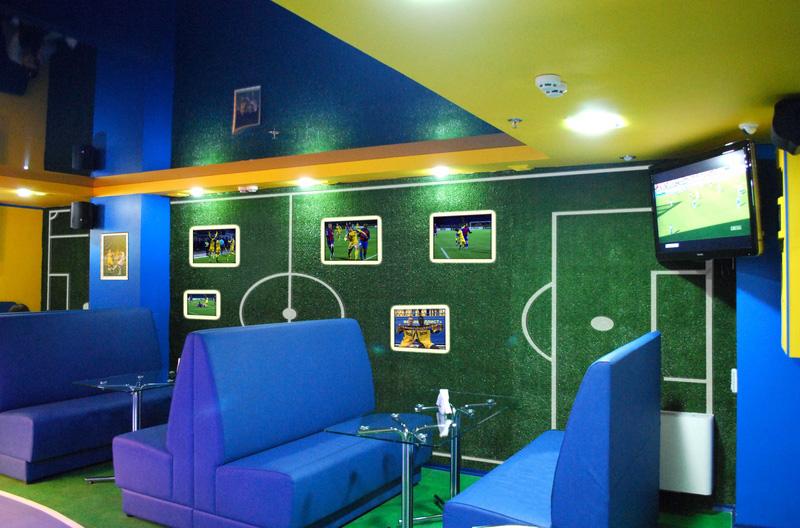 Дизайн спорт-кафе