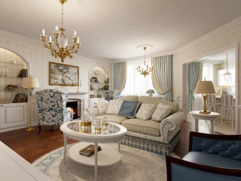 Дизайн трехкомнатной квартиры в классическом стиле