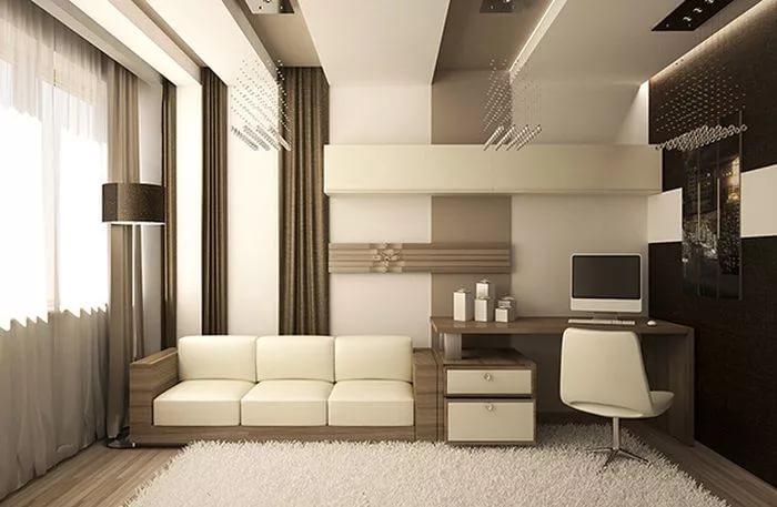 Дизайн трехкомнатной квартиры в контрастных тонах