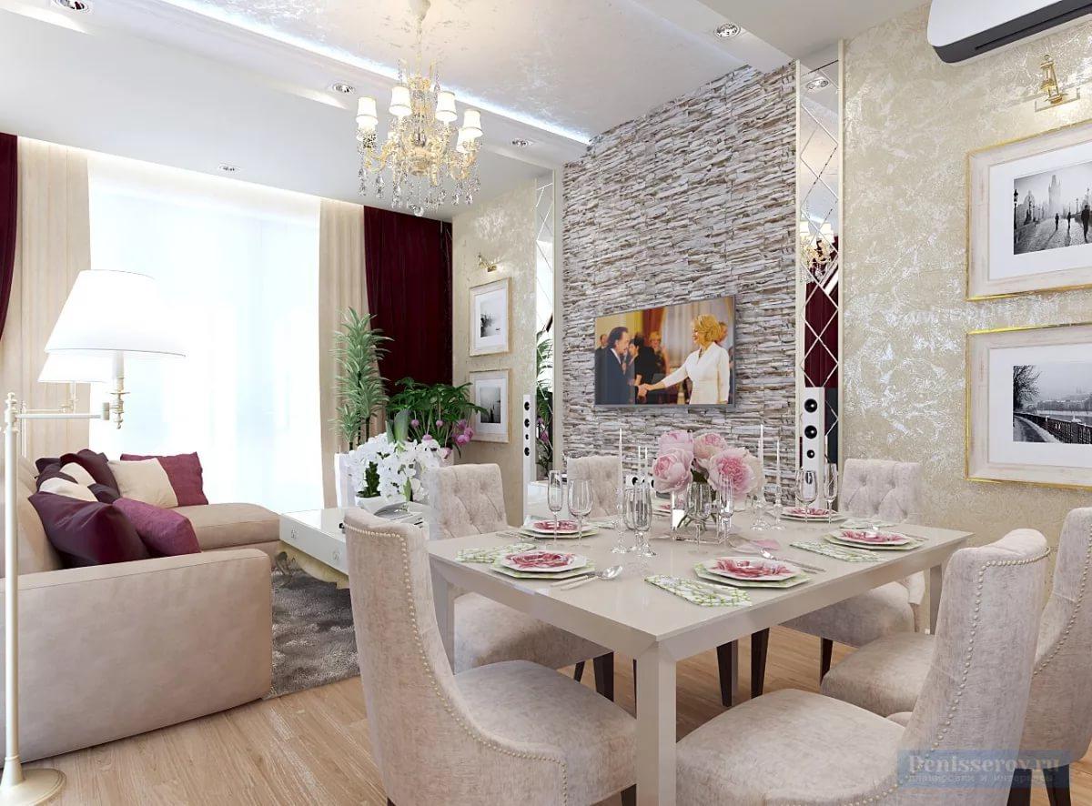 Дизайн трехкомнатной квартиры в стиле арт-деко
