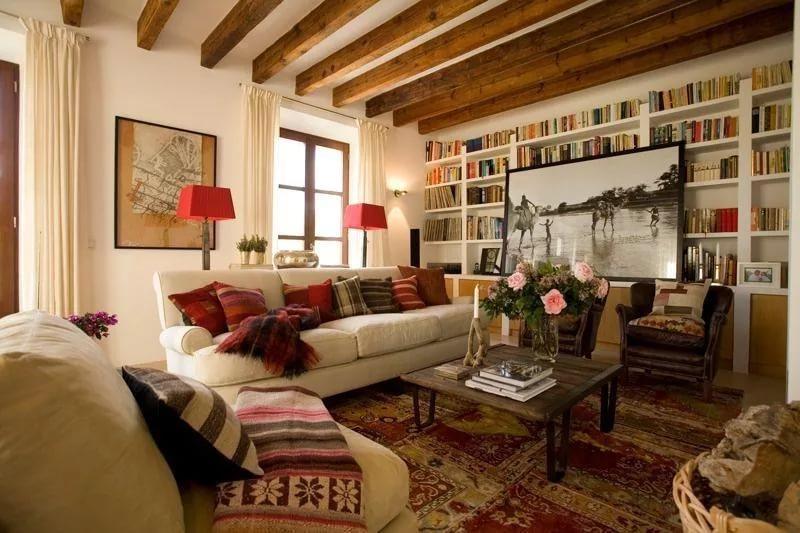 Дизайн трехкомнатной квартиры в стиле кантри