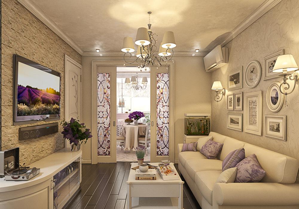 Дизайн трехкомнатной квартиры в стиле прованс