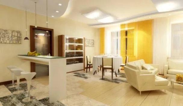 Зонирование освещением квартиры-студии
