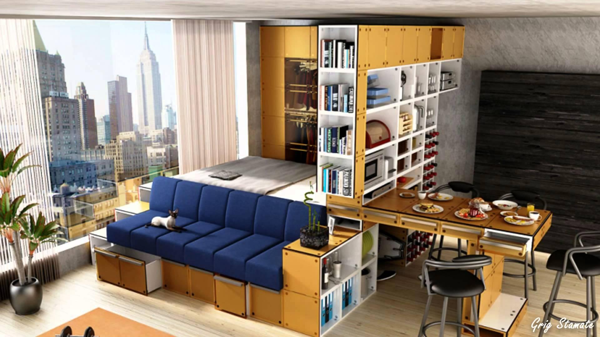Компатный дизайн квартиры-студии