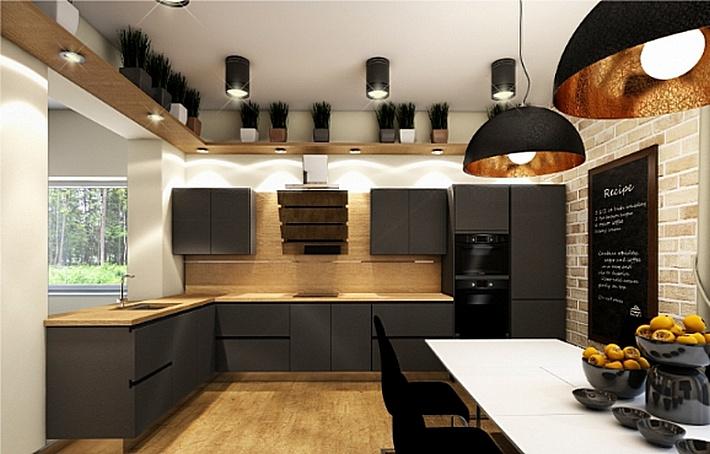 Кухня 10 кв.м. в стиле лофт